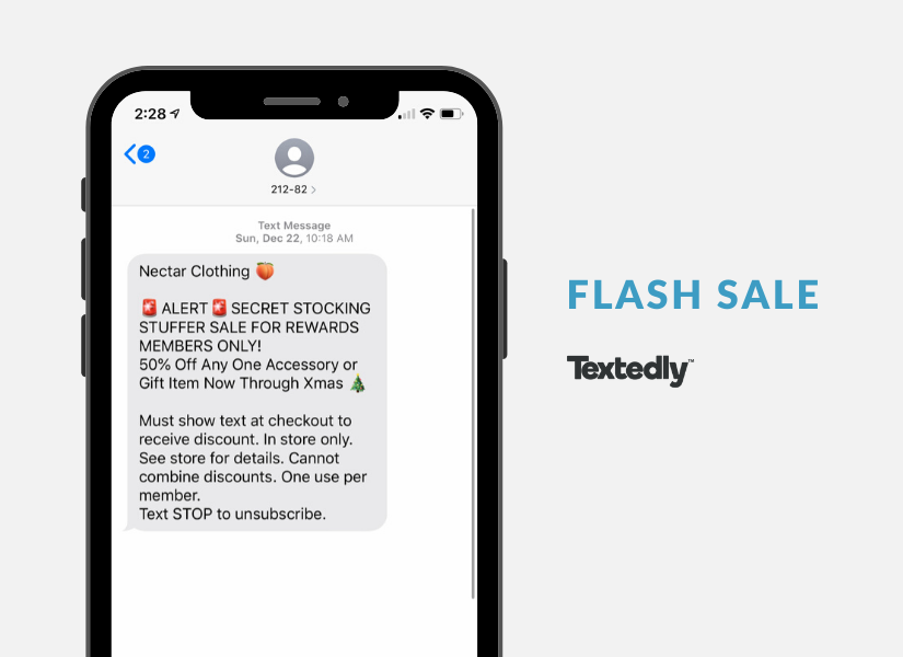 SMS Flash Sale Example