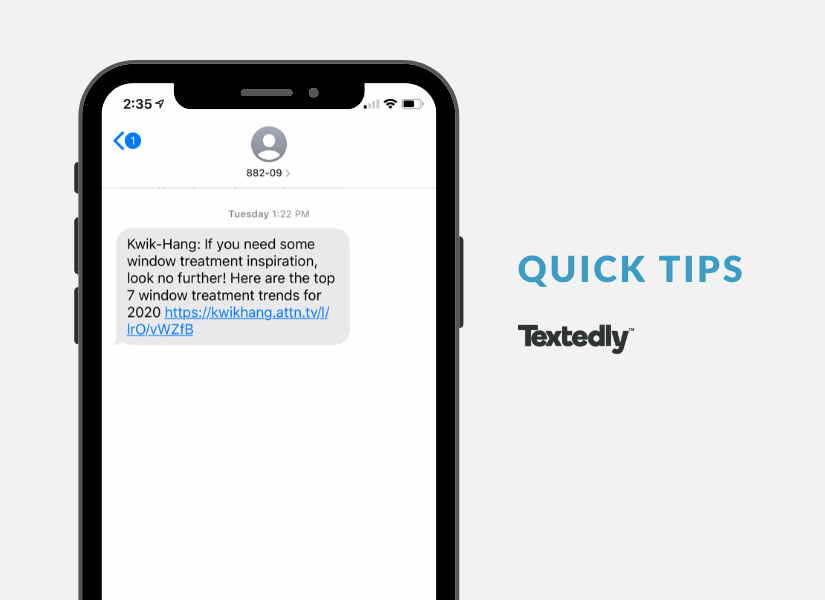 SMS Quick Tips Example