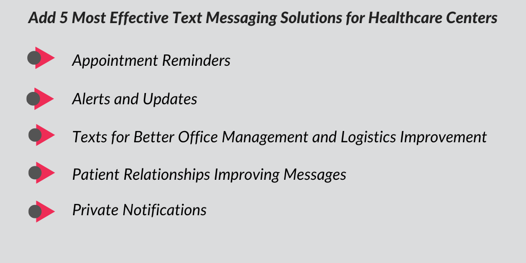 SMS and text messaging solutions for healthcare centers