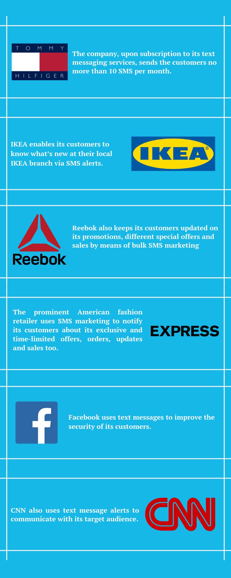 Big brands use SMS marketing