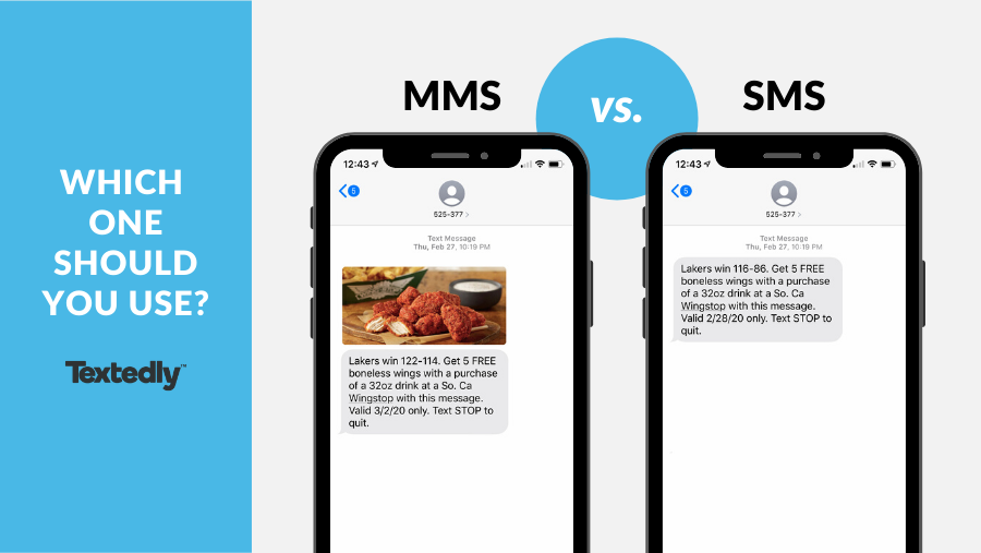 Examples of MMS vs SMS Messages