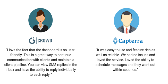 Textedly G2 Crowd Capterra Reviews