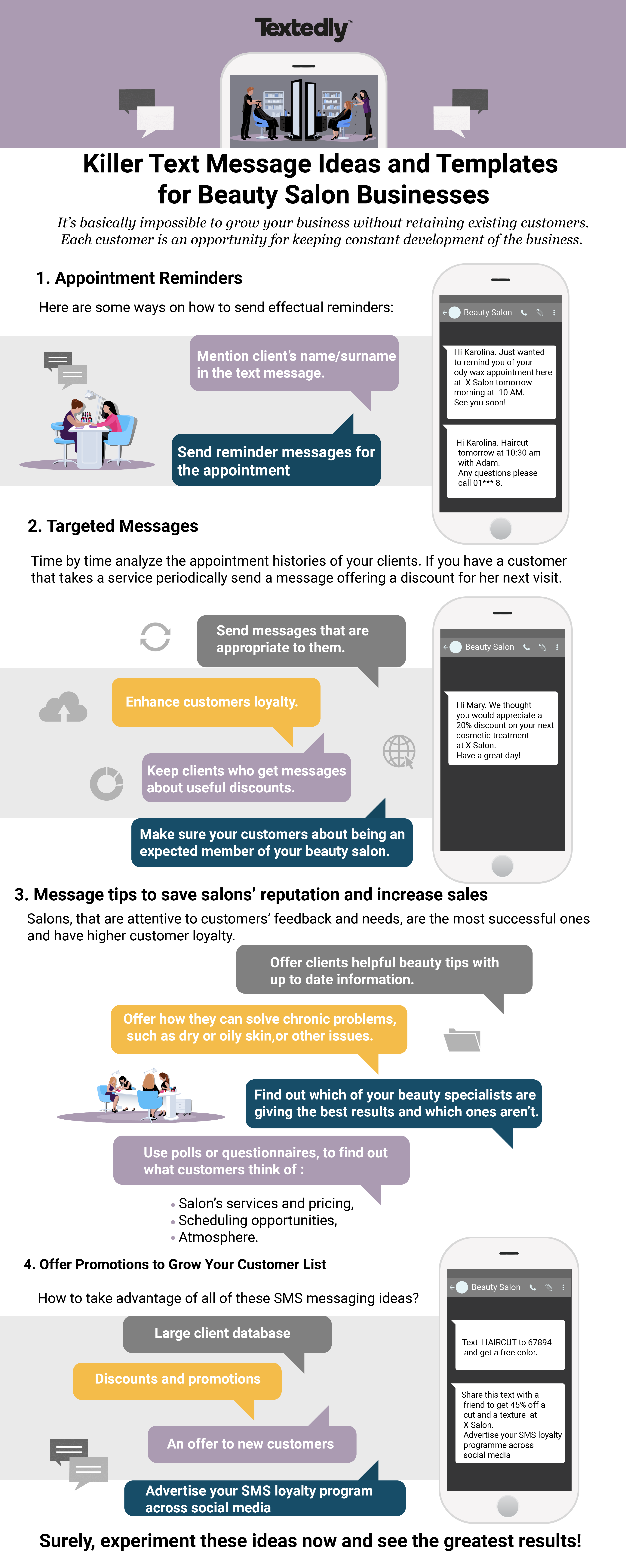 Killer Text Message Ideas and Templates for Beauty Salon