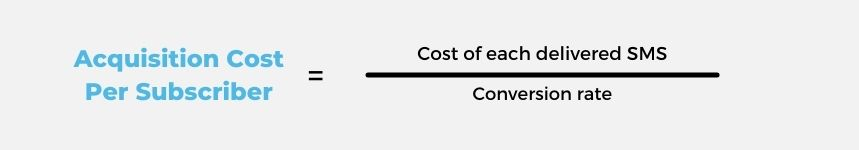 acquisition cost per subscriber