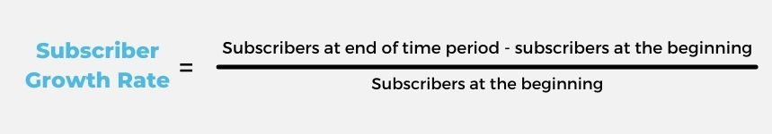 how to calculate subscriber growth rate